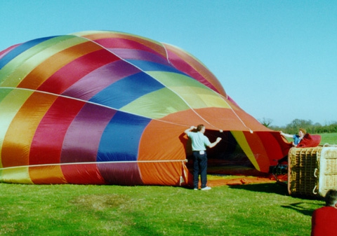 First class fare hot air ballooning